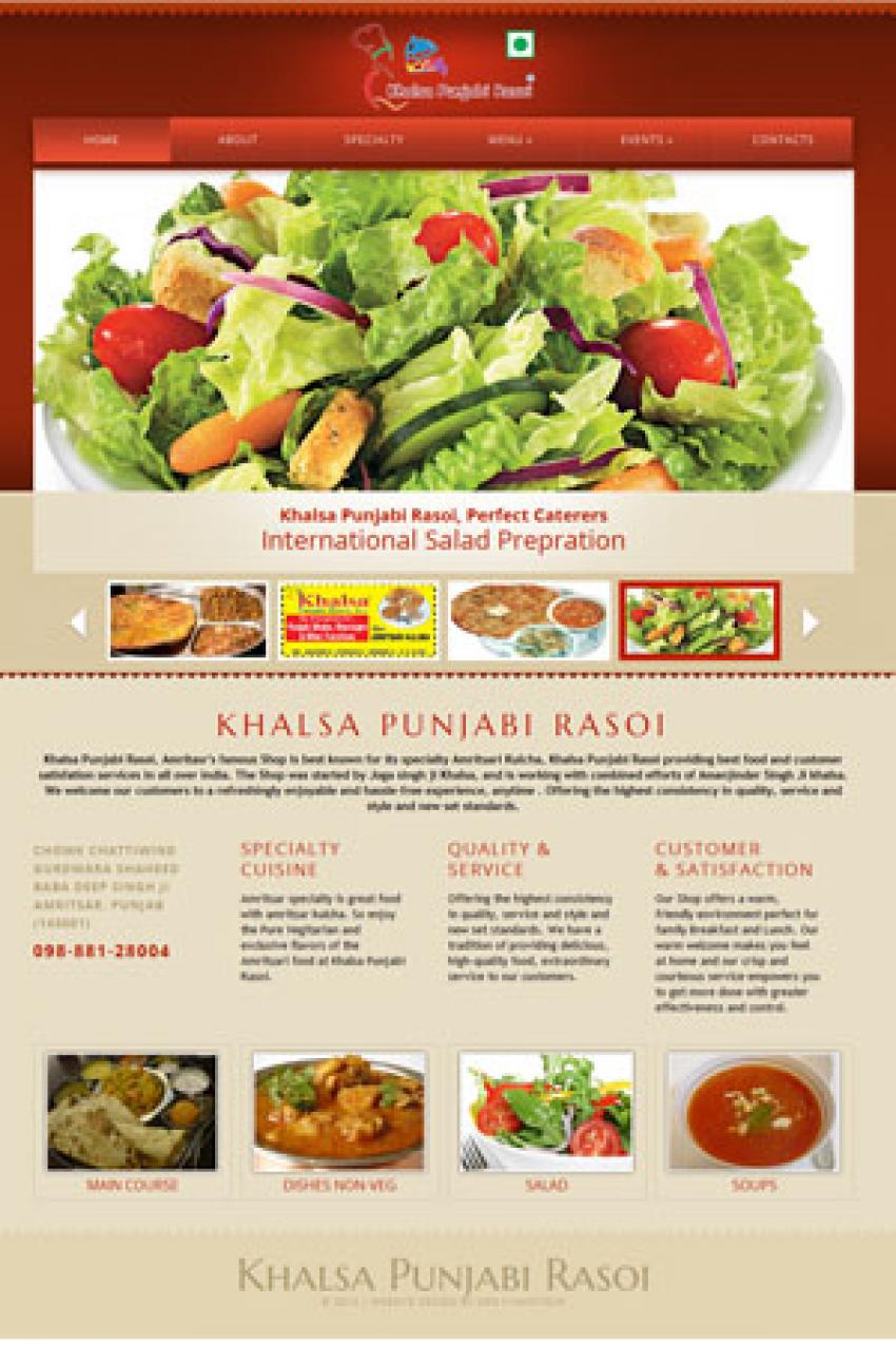 Restaurant Website design dadraandnagarhaveli