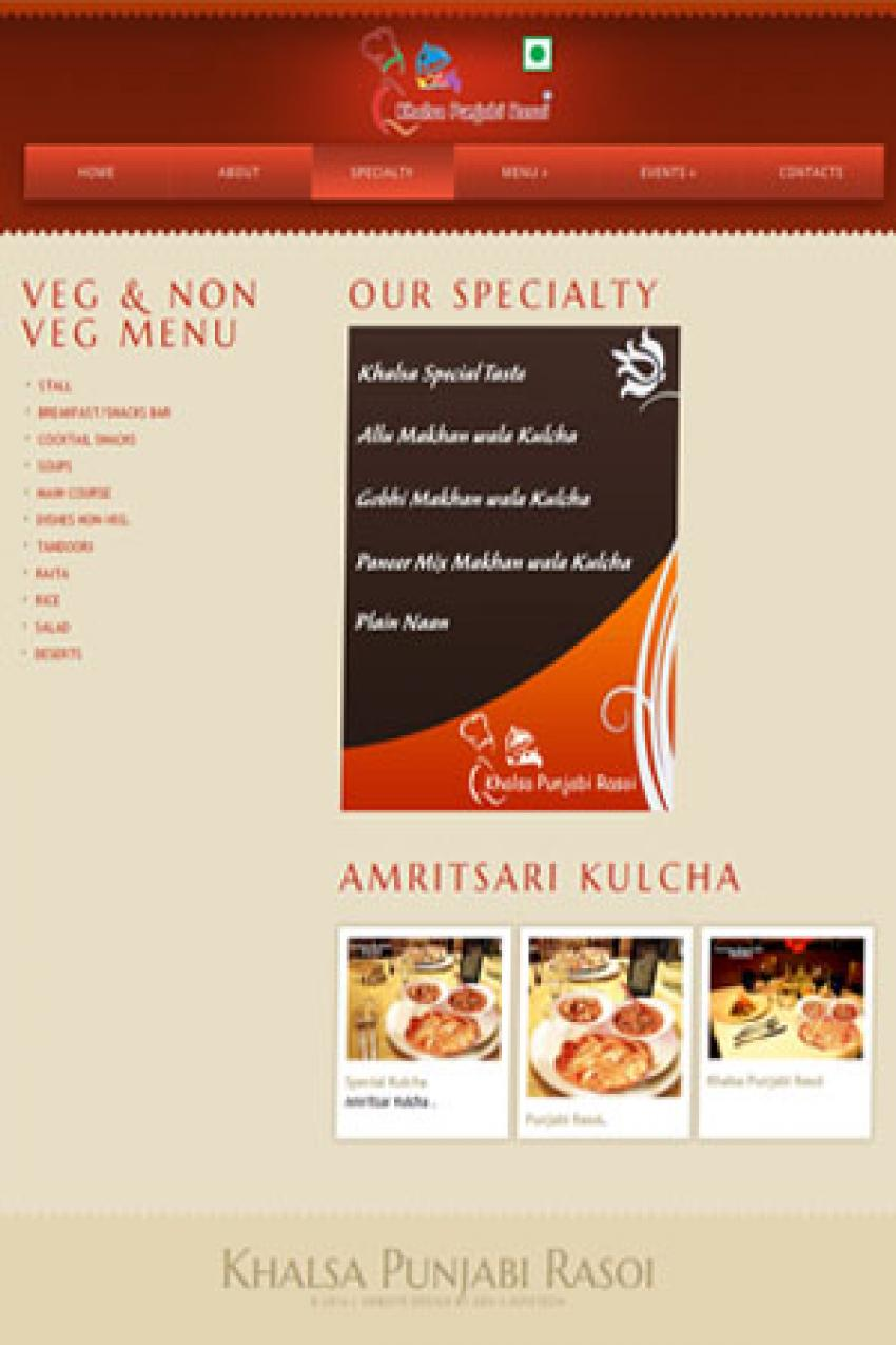 Restaurant Responsive website design Siwan
