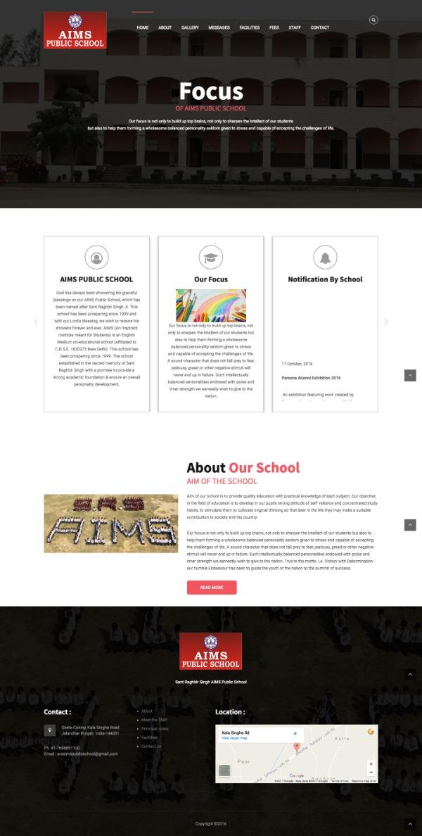 School website design Samastipur