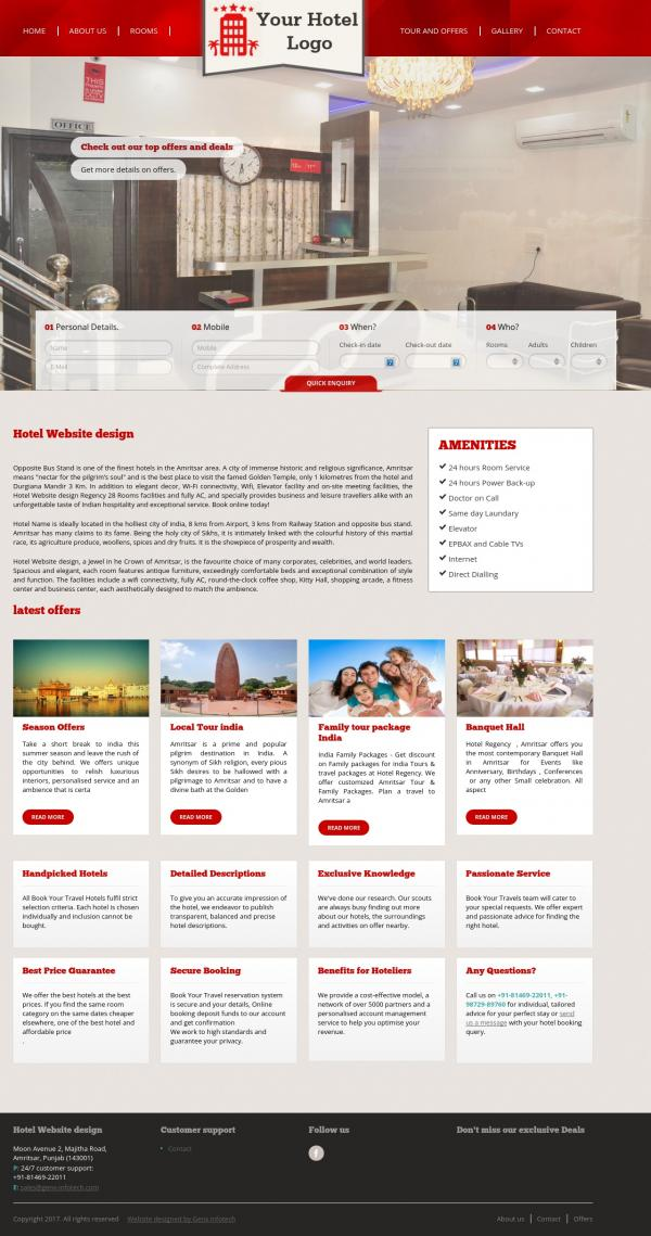 Hotel Website Design yavatmal