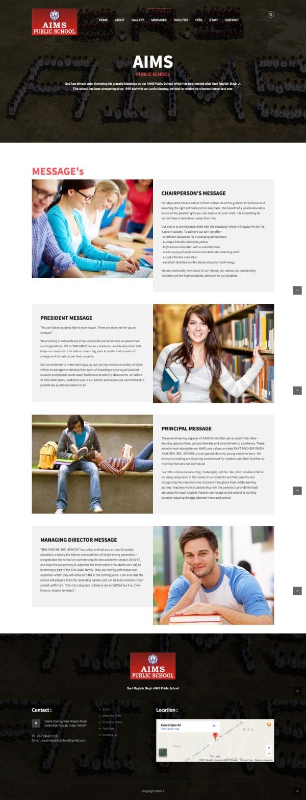 Best School Website design Birnagar