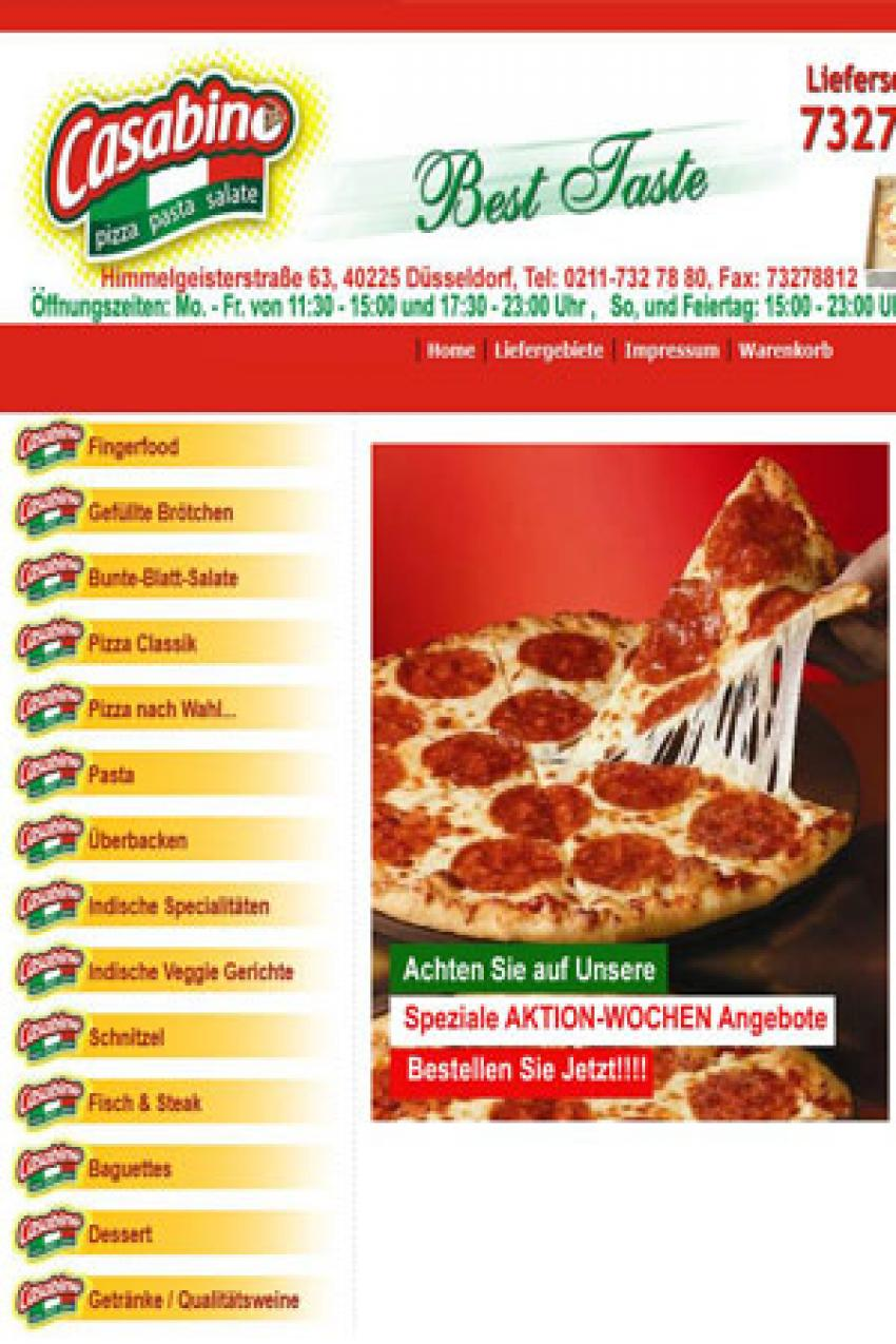 pizza website design India
