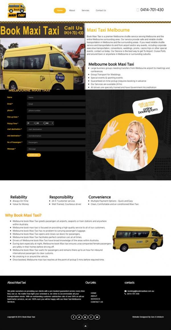 Taxi website Design dadraandnagarhaveli
