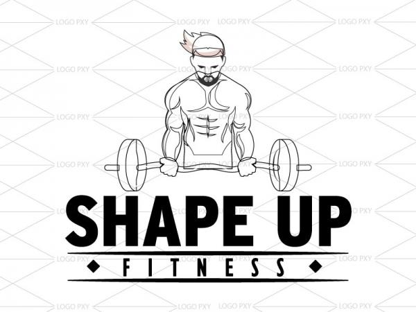 Gym and Slim fitness wire framing logo Dadra and Nagar Haveli