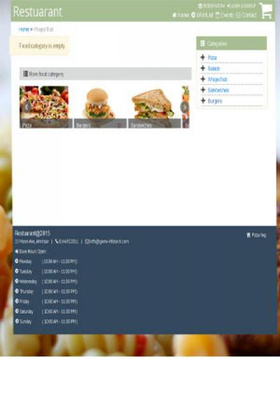 Restaurant order website {name}
